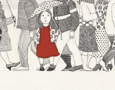 Sabelles röda klänning